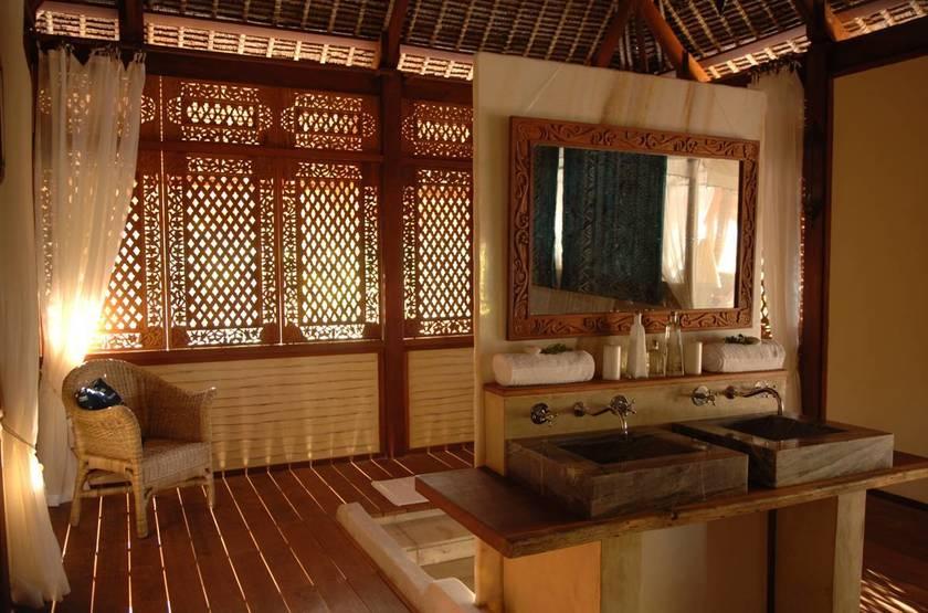 Vamizi Island Lodge, Quirimbas, Mozambique, salle de bain