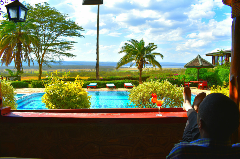 Lake Nakuru Lodge, Kenya, piscine