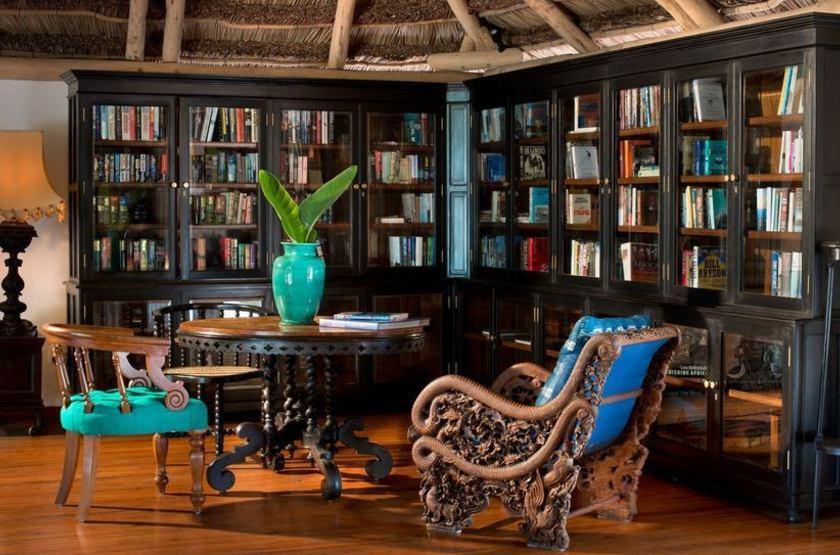 & Beyong Benguerra Lodge, Mozambique, bibliothèque