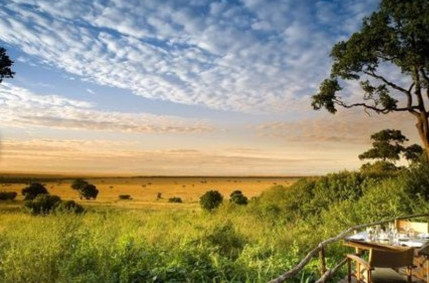 &Beyond Bateleur Camp, Masai Mara, Kenya, terrasse