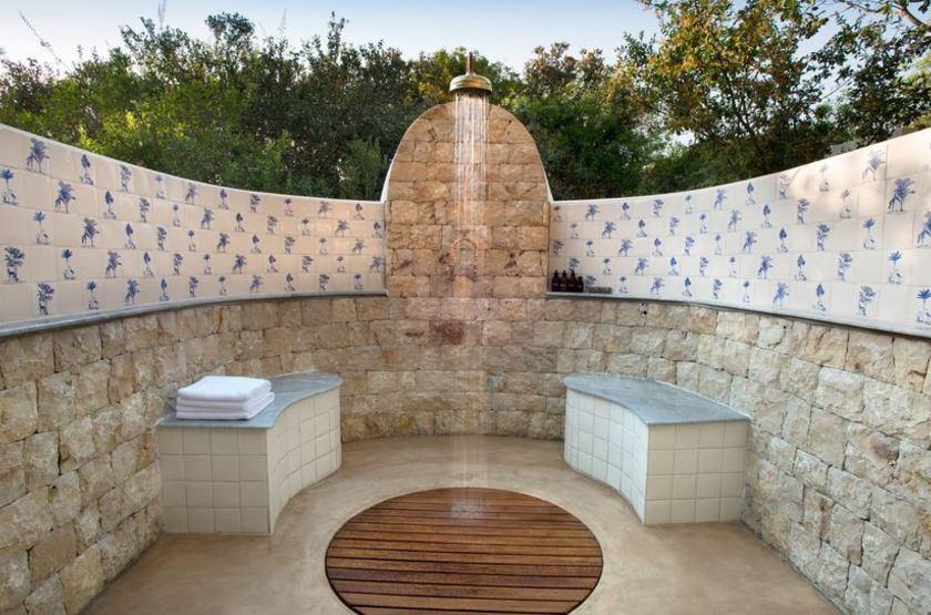 & Beyong Benguerra Lodge, Mozambique, salle de bains