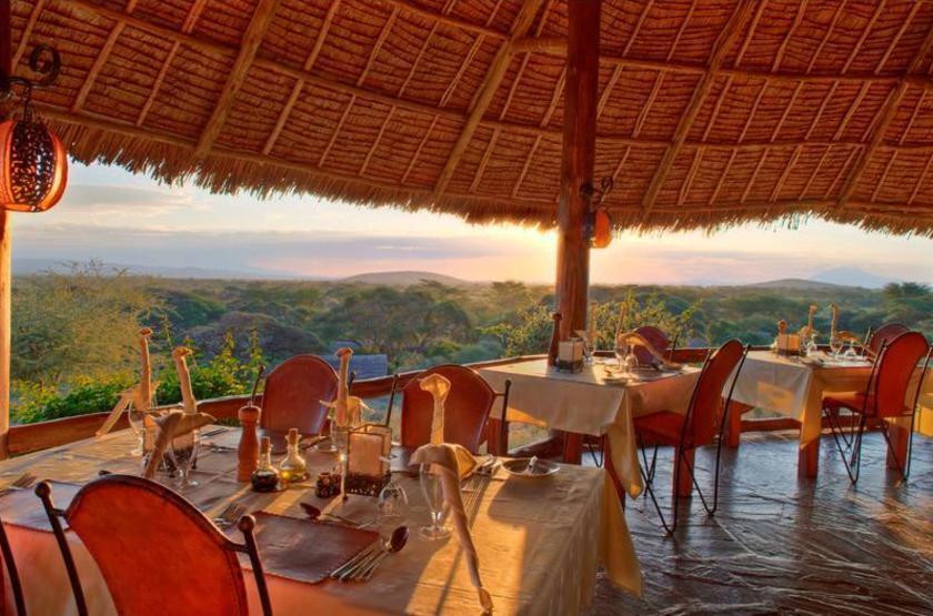 Elewana Tortilis Camp, Amboseli, Kenya, restaurant