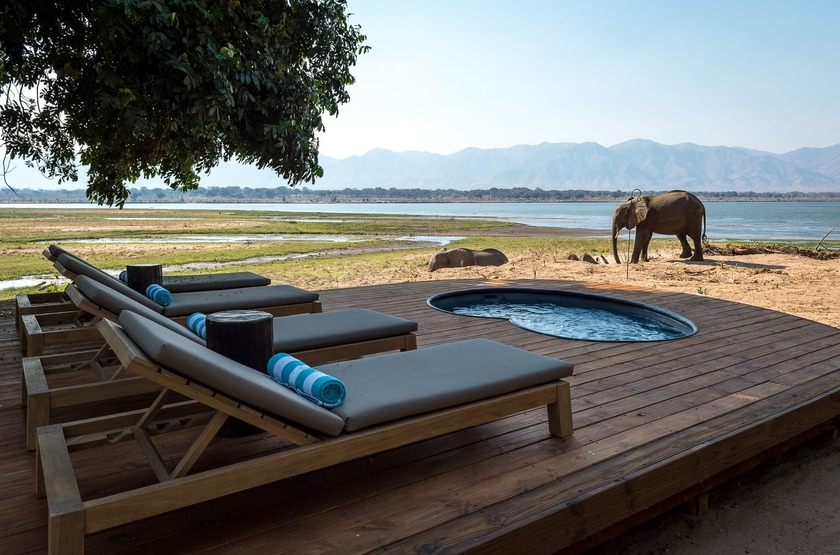 Little Ruckomechi, Mana Pools, Zimbabwe, piscine