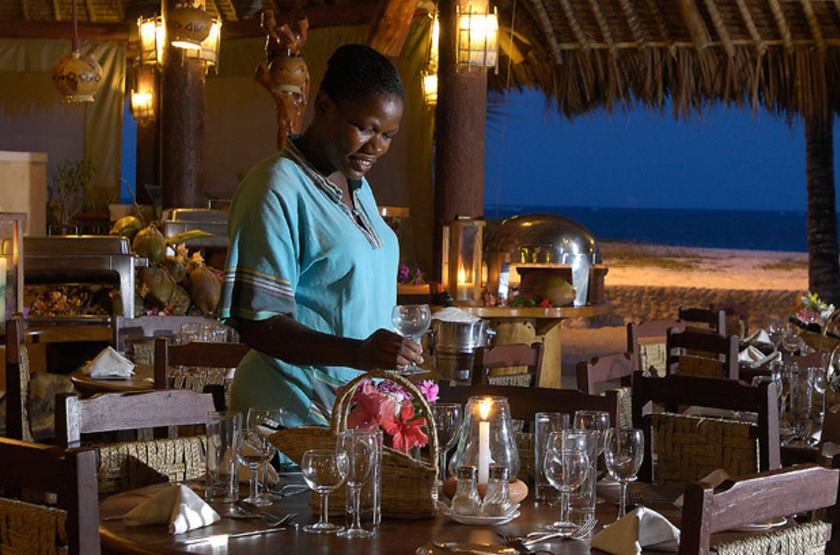 Pinewood Beach Resort & Spa, Diani, Galu Beach, Kenya, restaurant