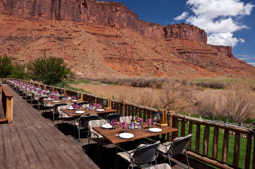 Red Cliff Adventure Lodge, Moab, Etats Unis, terrasse