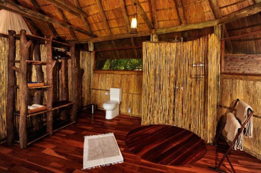 Bilimungwe Camp, South Luangwa, Zambie, salle de bains