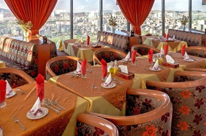 Tabriz El-Goli Pars Hotel, Trabiz, Iran, restaurant panoramique