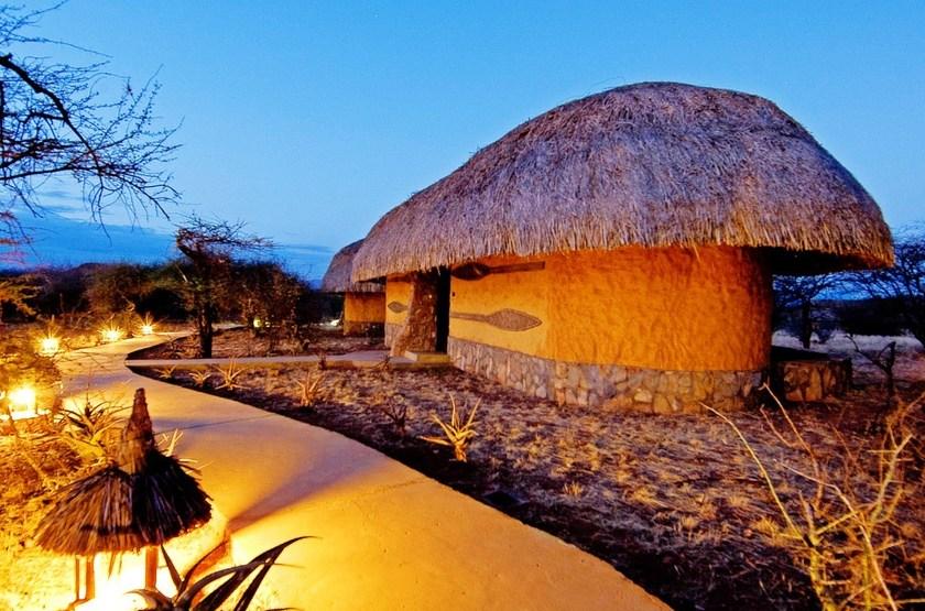 Amboseli Sopa Lodge, Amboseli, Kenya, cottage