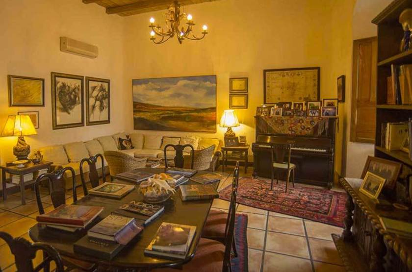 Los Almendros de San Lorenzo, Suchitoto, Salvador, salon intérieur