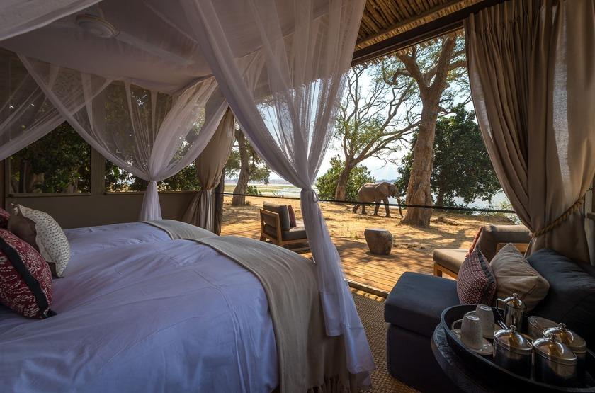 Little Ruckomechi, Mana Pools, Zimbabwe, tente