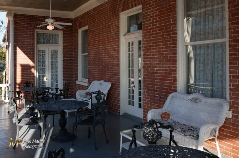 The Guest House, Natchez, Etats Unis, terrasse