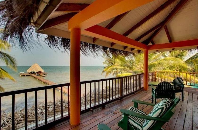Robert's Grove Inn Resort, Placencia, Belize, terrasse
