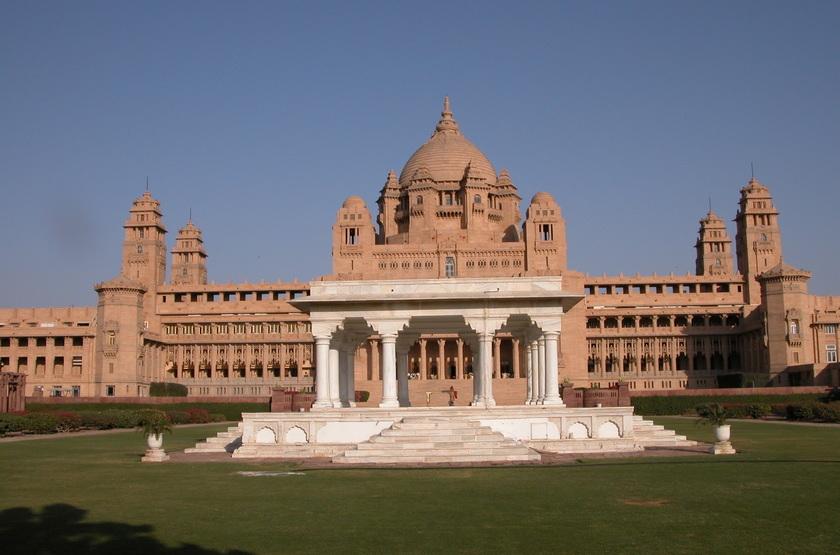 Taj Umaid Bhawan Palace, Jodhpur, Inde, extérieur