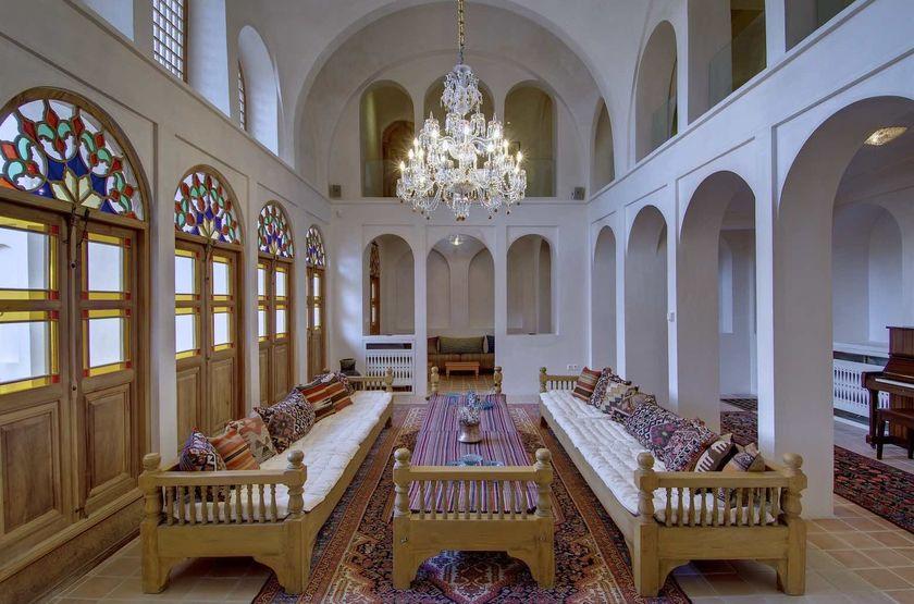 Manouchehri House, Kashan, Iran, salon