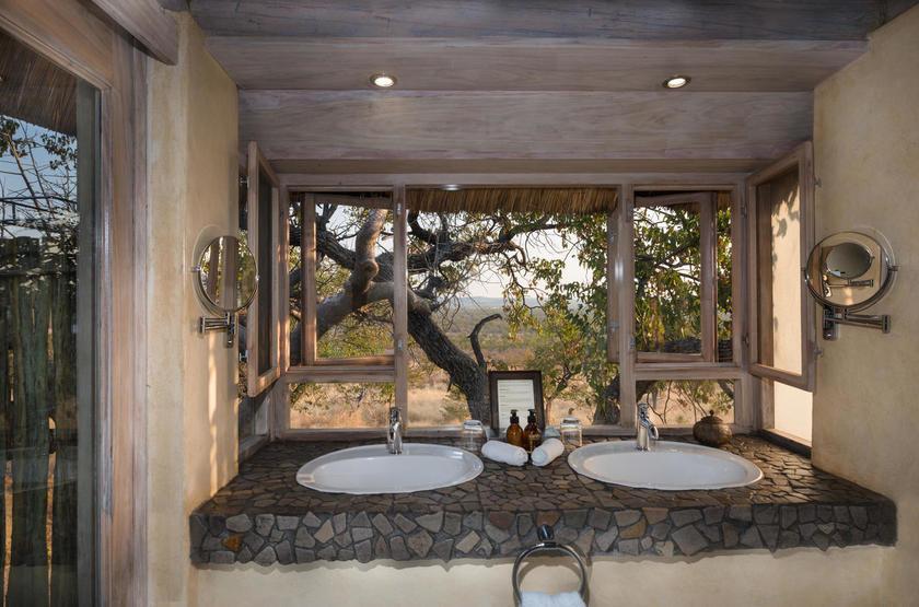 Ongava Lodge, Territoire d'Ongava, Namibie, salle de bain