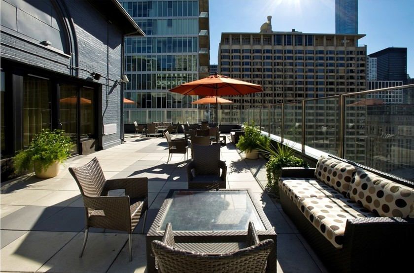 Inn Of Chicago, Etats Unis, terrasse sur le toit