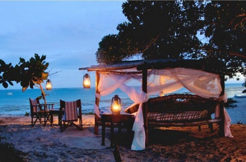 Kinondo Kwetu, Diani Beach, Kenya, dîner sur la plage