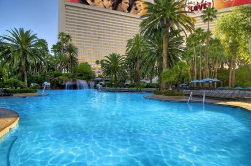 Hôtel Mirage, Las Vegas, Etats Unis, piscine