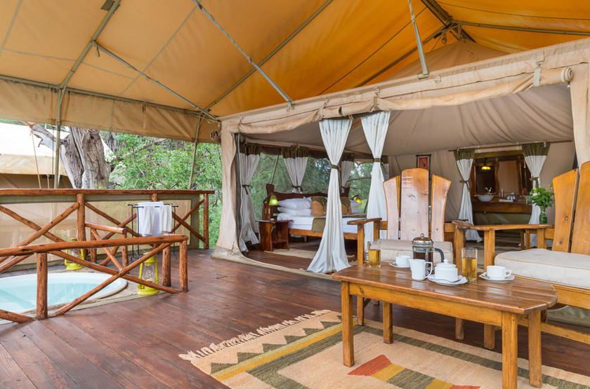 Elephant Bedroom Camp, Samburu, Kenya, tente