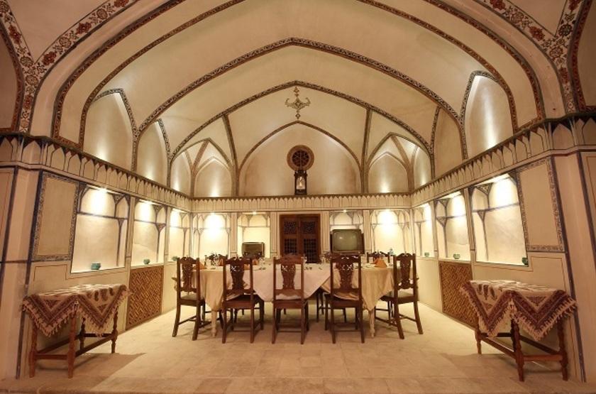 Mahinestan Hotel, Kashan, Iran, restaurant