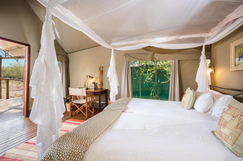 Ongava Tented camp, Namibie, chambre
