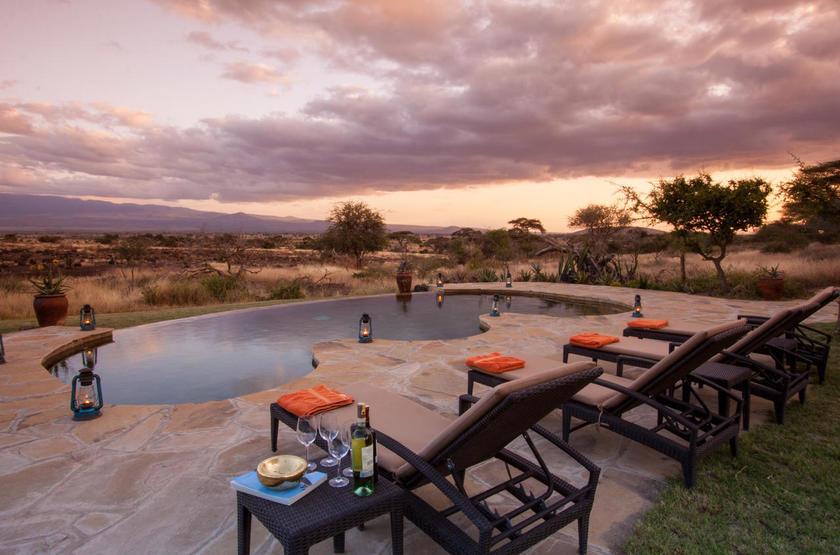 Elewana Tortilis Camp, Amboseli, Kenya, piscine