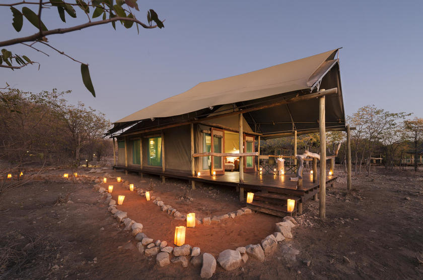 Ongava tented camp, Namibie, tente