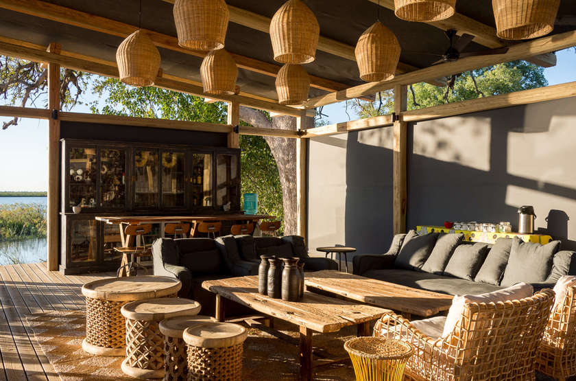 Linyanti Tented Camp, Botswana, bar
