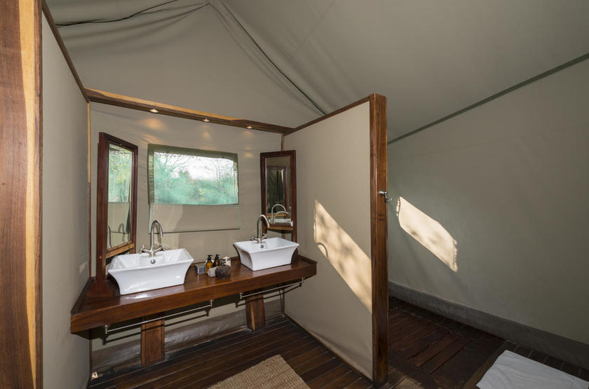 Ongava tented camp, Namibie, salle de bain
