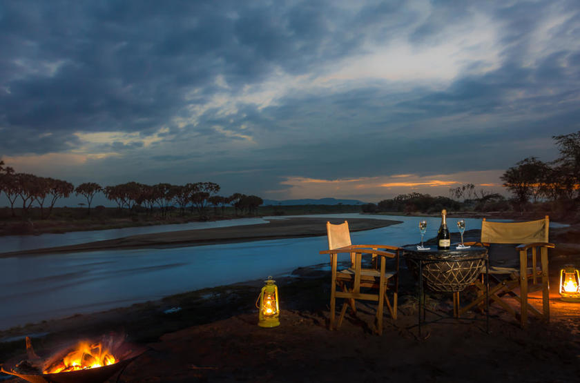 Elephant Bedroom Camp, Samburu, Kenya, dîner