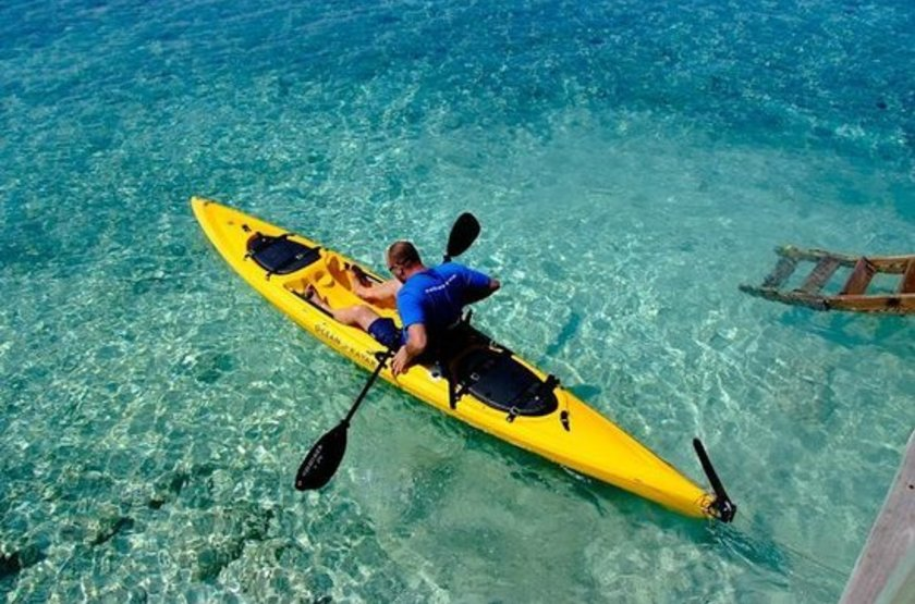 Robert's Grove Inn Resort, Placencia, Belize, kayak