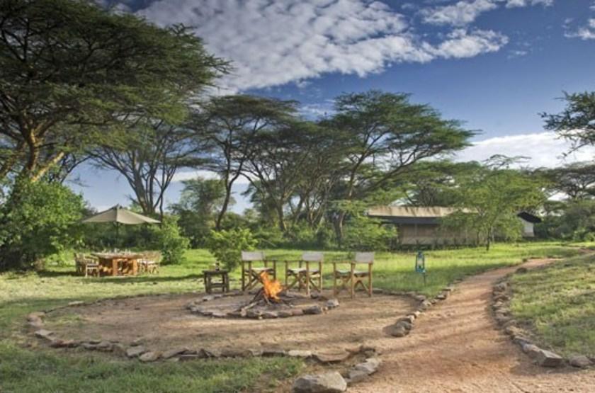 Mara Porini Camp, Ol Kinyu, Masai Mara, Kenya, boma