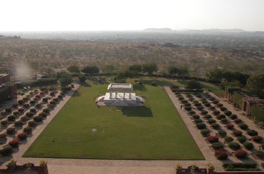 Taj Umaid Bhawan Palace, Jodhpur, Inde, jardins