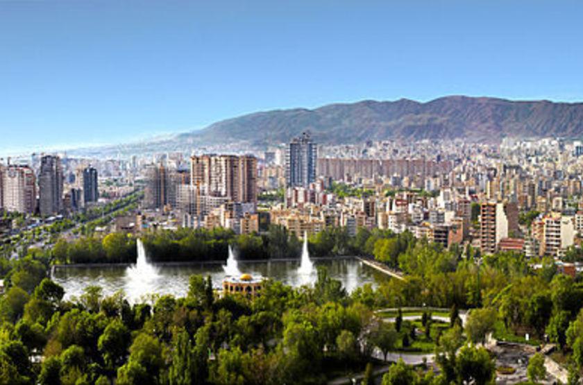 Tabriz El-Goli Pars Hotel, Trabiz, Iran, vue sur la ville