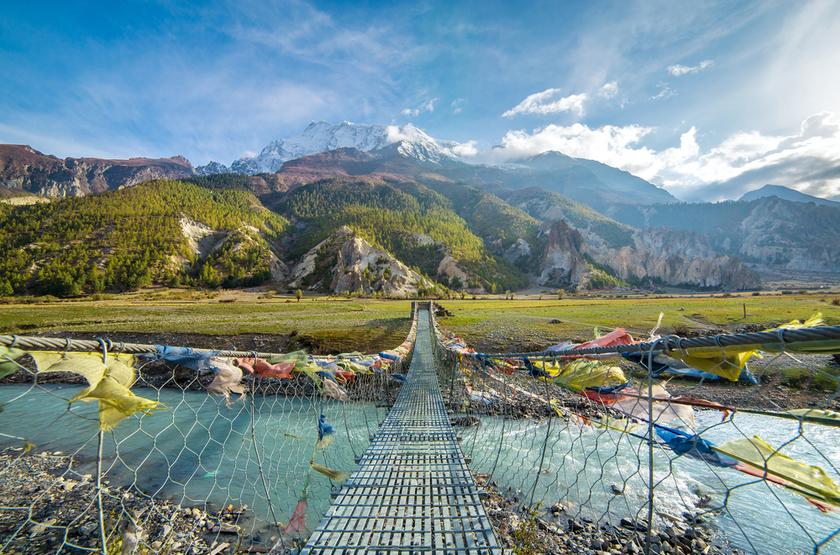 Le pont Shangrila, Anapurna, Népal