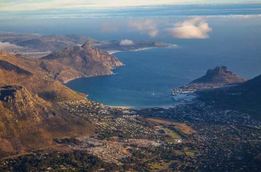 Vue sur Hout Bay et Chapman's Peak, Afrique du Sud