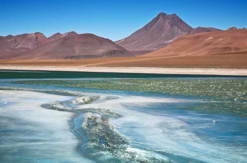 Voyage dans le désert d'Atacama, Lagune du Diamant, Chili