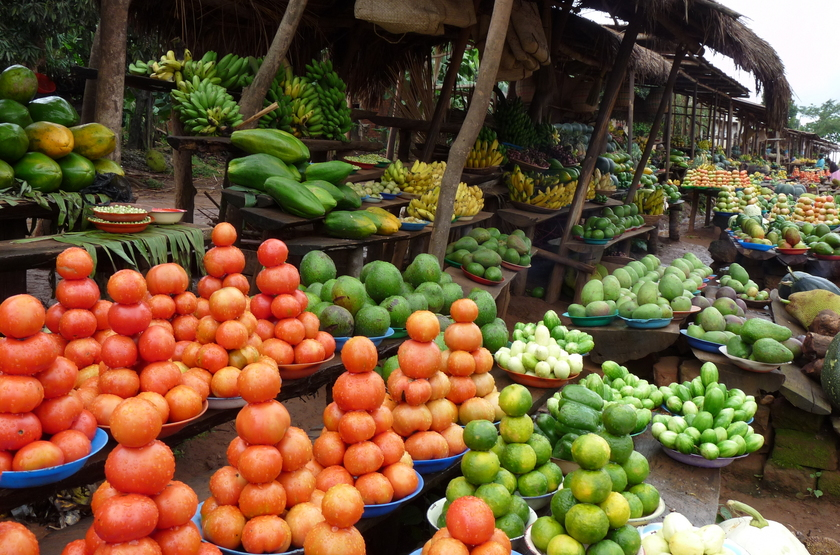 Marché local, Ouganda