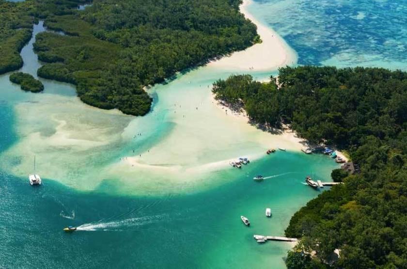 Le lagon de l'Île aux Cerfs, Île Maurice