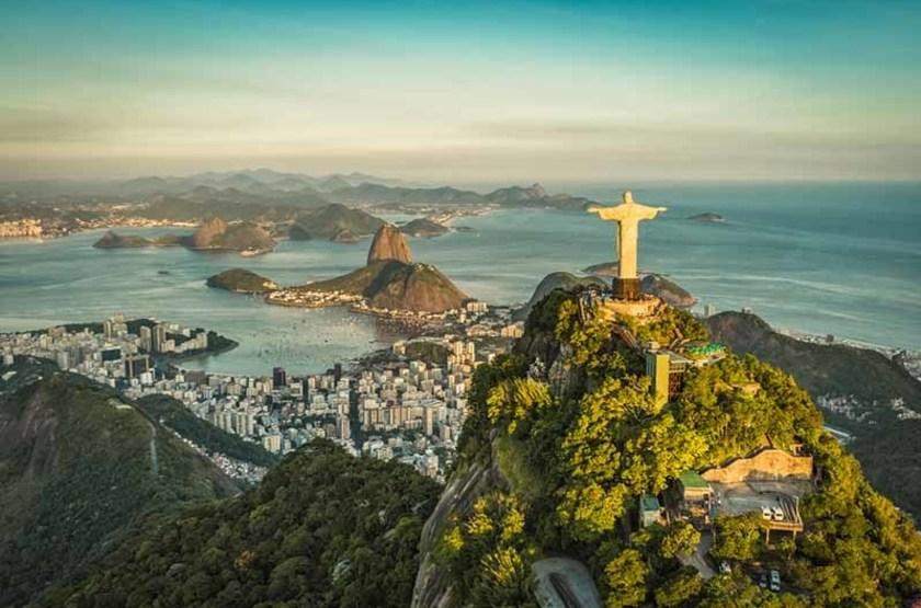 Fameuse Statue du Chist, Bay Botafogo, Rio, Brésil