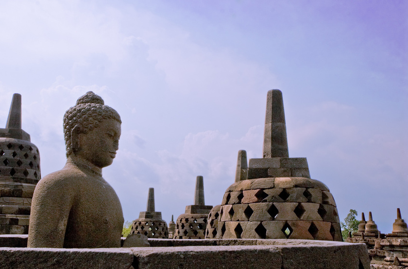 TEmples de Borobudur, Java, Indonésie