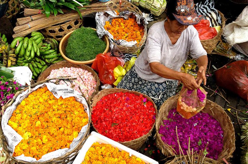 Marché indonésien, Bali