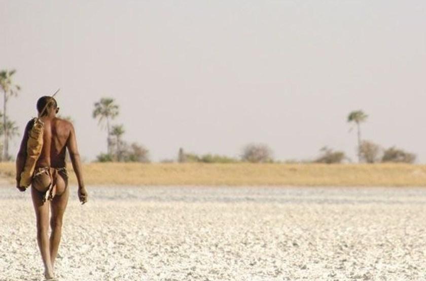 Pan de Makgadikgadi, Botswana, bushmen