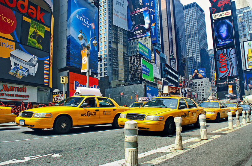 New york taxi time square slideshow