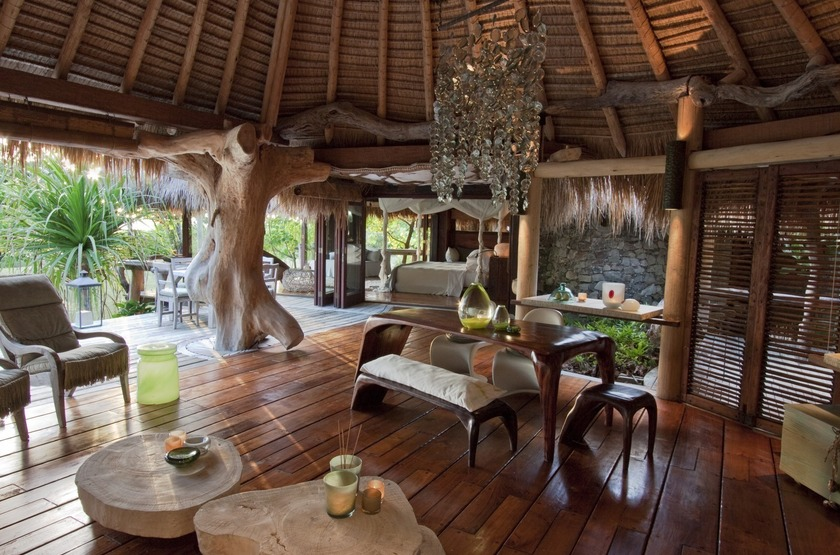 Seychelles   north island   interieur   salon 2 slideshow