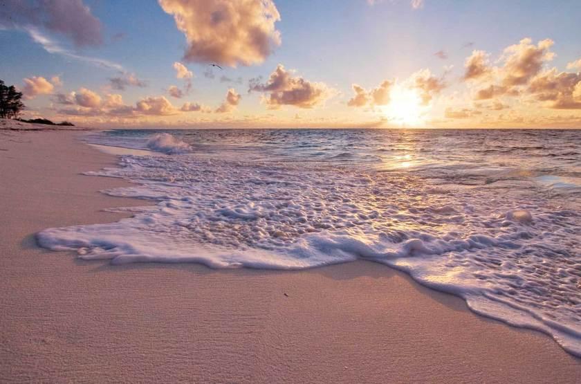 Seychelles   bird island   plage au coucher du soleil slideshow