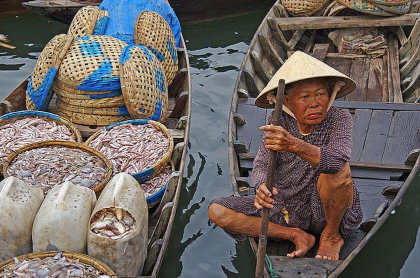 Marché flotant, Hoi An, Vietnam