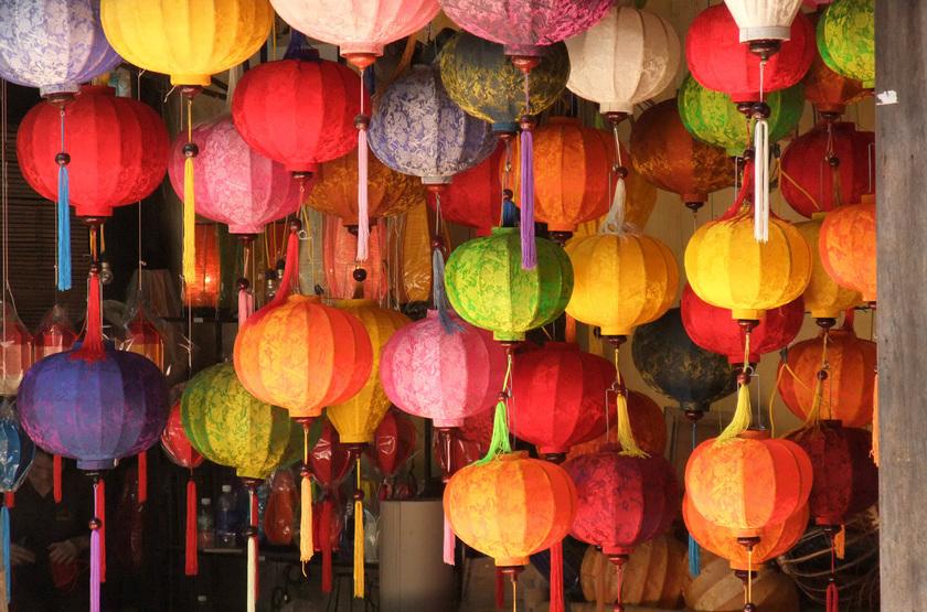 boutiques de lanternes, Hoi An, Vienam