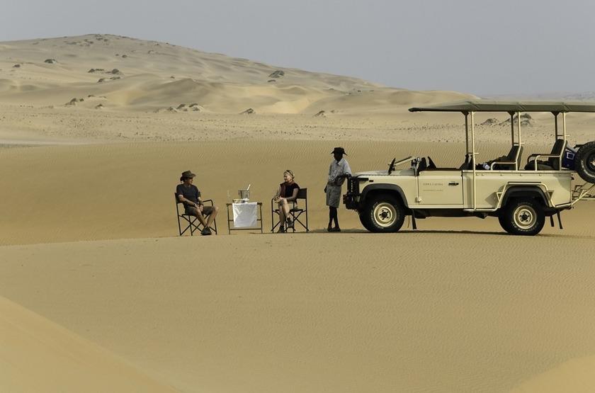 Safari en 4x4 dans les dunes, Kulala Desert Lodge, Namibie