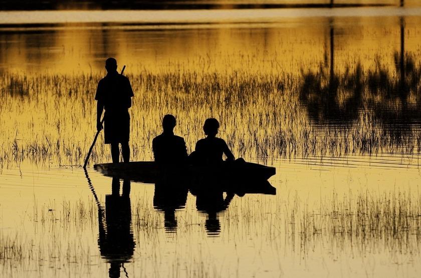Safari en mokoro, Xigera camp, Okavango, Botswana